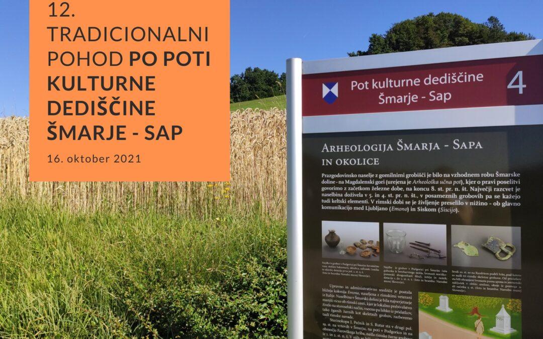 Vabilo: 12. pohod Po poti kulturne dediščine Šmarje – Sap